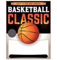Basketball Classic Flyer vector image
