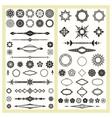 Ornaments and decorative elements vector image