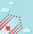 Air show on the sky for celebrate the national day vector image