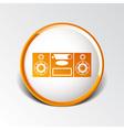 Music center icon art audio vector image