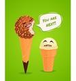 Funny ice creams poster vector image