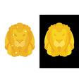 Gold Lion Predators head with mane of yellow vector image