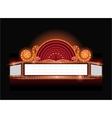 Brightly theater glowing retro cinema neon vector image