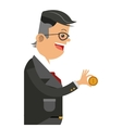 businessman holding money icon vector image