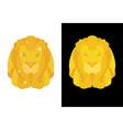 Gold Lion Predators head with mane of yellow vector image