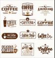 retro vintage coffee design collection vector image