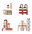 set of icons plant energy building vector image