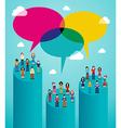 Social network people global viral communication vector image