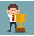 winner business man success icon vector image