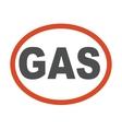 Gas oil station emblem vector image