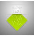 Attach puzzle-sticker vector image vector image