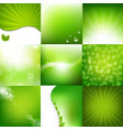 eco green posters set vector image