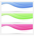 Three bright headers swoosh collection vector image vector image