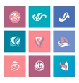 Abstract beauty icons for corporate identity vector image