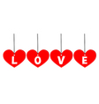 Love tag vector image