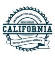 College California Badge and Label Design Element vector image