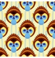 Seamless pattern of geometrically stylized monkey vector image