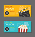 movie coupon flat design vector image