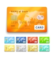 Set of detailed glossy credit cards vector image