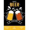 Beer festival event poster vector image