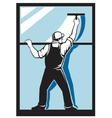 window washer worker vector image