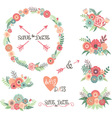 Wedding Floral Collections vector image vector image