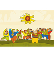 Folk Dance People vector image vector image