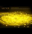 black background with golden sparkles vector image