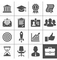 Business career icons set - Simplus series vector image