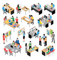 development company isometric icons set vector image
