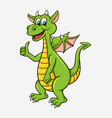 dragon cartoon character vector image