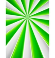 Green and white abstract rays circle poster vector image