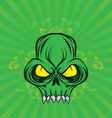 green-skull vector image