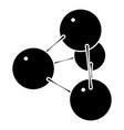 pyramide molecule icon simple style vector image