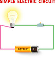 simple electric circuit vector image