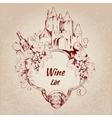 Wine list label vector image