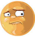 Worried emotion vector image