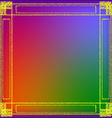 The frame of the texture of hay vector image