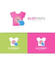 shirt and click logo combination Wear and vector image