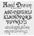 Vintage alphabet hand drawn font vector image vector image