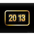 Flip clock with 2013 year vector image vector image