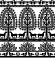 Seamless floral Polish folk art pattern Wycinanki vector image