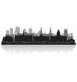 Leeds city skyline silhouette vector image vector image
