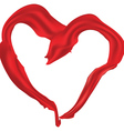 Heart shaped red scarf vector image vector image
