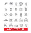 architecture buildingconstruction design plans vector image