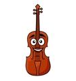 Happy wooden violin with a big smile vector image vector image