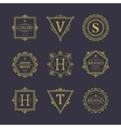Set of badges Old school Vintage banners vector image