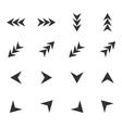 Arrow icon set 4 simple vector image