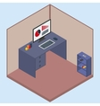 isometric room with a computer vector image