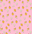 easter chicken pattern vector image vector image